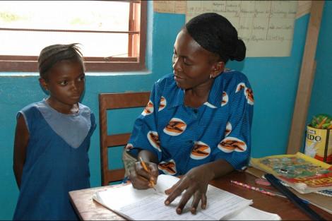 Girls-and-teacher-Kono-Sierra-Leone